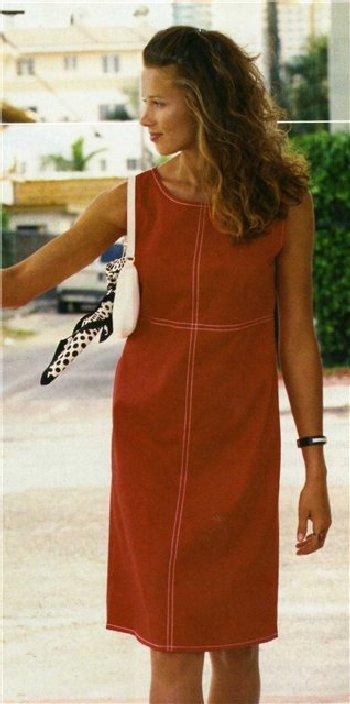 Льняное платье с нежной вышивкой. Модель 13-9 - Платья - Империя